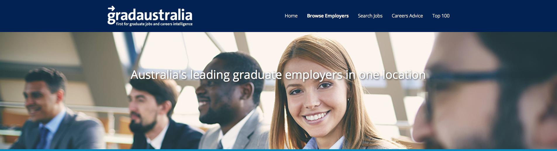 GradAustralia website